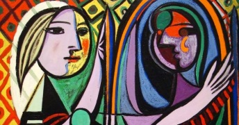 mujer ante el espejo picasso